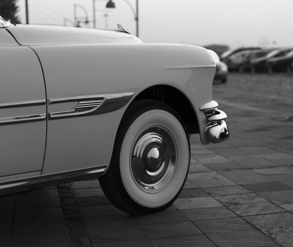 Car black and white